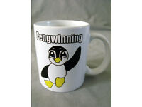 Cute Penguin Ceramic Mug with gift box/Made to order/NEW