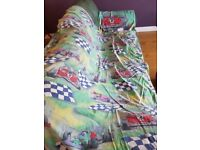 Unisex Racing Car single duvet cover and large pillowcase