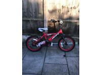"""HUFFY IGNITE UNISEX BIKE, 16"""" WHEELS, fully working and good condition"""