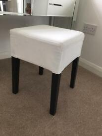 Dressing Table Stool - Black & Cream
