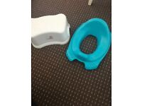 Toilet training seat and step