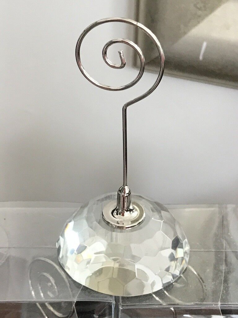 9 crystal place card holders for weddings, dinner parties or ...