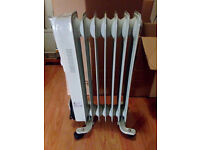 Heater 1500W Oil Filled Radiator White - Excellent conditions