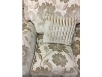 Cream and Gold Striped and Pattern Cloth 3+1+1 Suite