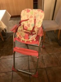 Good condition high chair £10 , Central London