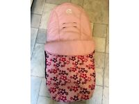 Oyster stroller / pushchair with footmuff & raincover