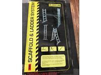 Workzone scaffold ladder platform system