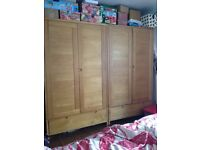 2 x ERCOL BOSCO double wardrobes