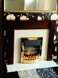 Heater fireplace and sarround
