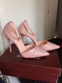 Pink diamanté shoes
