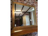 Stunning large gold bevelled mirror from Harrods, great condition, 118cm