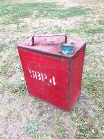 Vintage petrol spirit can easily no shell