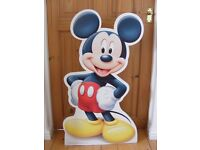 Free Standing Mickey Mouse Cardboard Cut-Out