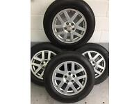 Landrover discovery 18 inch alloys with Michelin 255/60/18 tyres 7mm