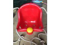 Red toddler swing seat