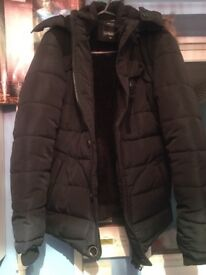 Men's brand new parka coat Size S