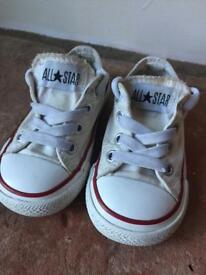 Child's Converse Size 5 white chucks