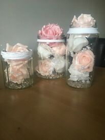 Shabby Chic Jar Ornaments