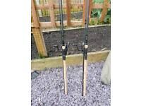 2x wychwood specialist rods 1 1/4 2x Shimano 4000 baitrunners korum 2 rod holdall