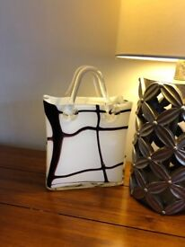 Lovely Handbag Style Vase, Excellent Condition