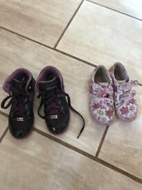 Two pairs of girls Lelli Kelly boots and pumps