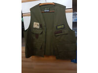 barbour international fly fishing waistcoat size xl vintage