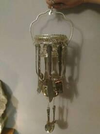 Medium bespoke antique cutlery wind chime / mobile