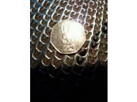 Peter Rabbit 50p collectors rare coin