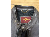 BARGAIN, Designer Label 7 For All Mankind Men's Leather Jacket, medium.