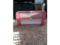 Mothercare pink bed guard