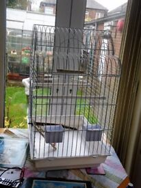 Large bird cage for small parrots, love birds, budgies etc