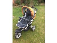 Jane slalom push chair pro travel system infant car seat/carry cot upright or lying down
