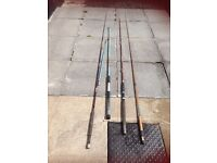 4 X VINTAGE FLY FISHING RODS MUST GO COLLECTION ONLY LISBURN AREA £30 FIRST COME FIRST SERVED.