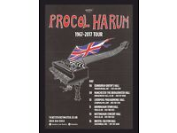 2 Stalls tickets for Procol Harum concert in Liverpool on 10th May 2017