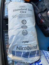 Unopened Nicobond Standard Set Flex Grey Adhesive 20kg Collection only.