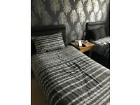 Single divan beds for sale with optional memory foam mattresses and black wall mounting headboards
