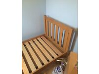 Solid oak next single bed frame