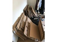 Very good quality cardboard boxes, 50+, mixed sizes, from professional house move, for sale £50