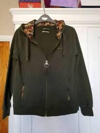 Barbour zipped hoodie