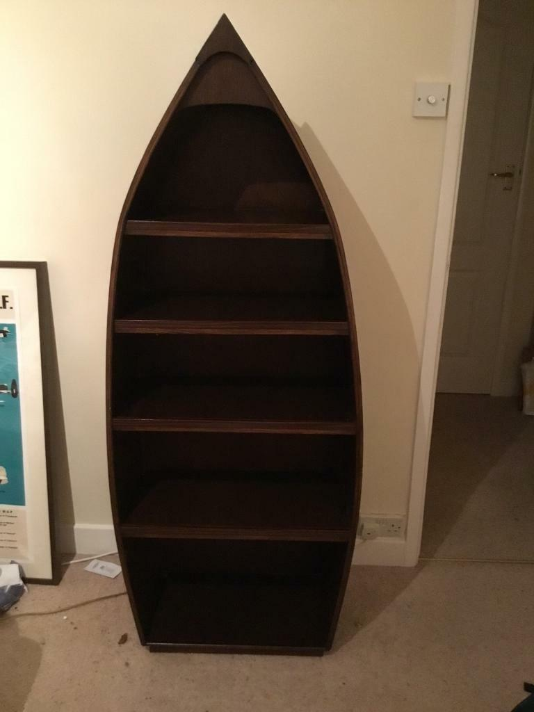 Hand Built Boat Bookcase With Integral Light In Harrogate