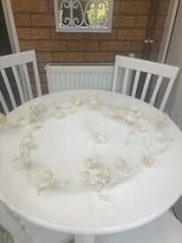 Cream flower garland x2 £20