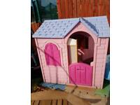 Little tikes house and picnic bench