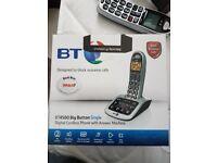 BT 4500 big button digital cordless pbone with answerphone.