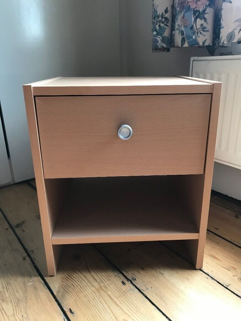 Small Wood Effect Bedside Table With Drawer In Cambridge
