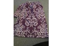 Next purple damask pencil pleat curtains - 168 x 137
