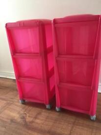 2 Storage units. Ideal for toy Storage.