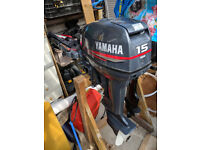 Yamaha 15HP Outboard in Excellent Condition with 25L Fuel Tank for sale  Hayling Island, Hampshire