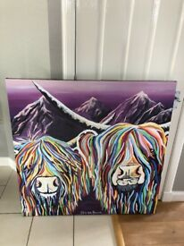 STEVEN BROWN - WULLIE AND MAGGIE MCCOO - MASSIVE CANVAS - ALMOST NEW
