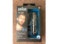 Braun face and head beard trimming kit trimmers
