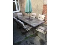 Large outdoor patio set